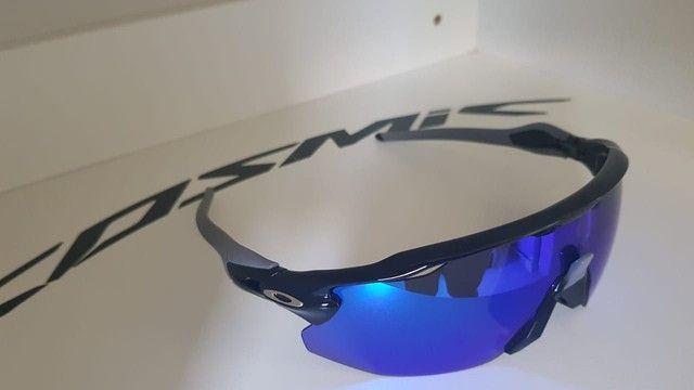 Óculos Ciclismo Oakley Radar Ev Advc Preto/Cinza - Foto 3
