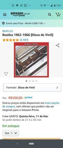 Vinil - Beatles 1962-1966 (LP raro) - Foto 6