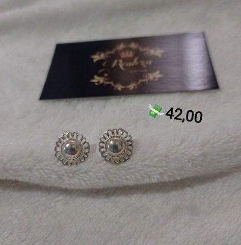 Brincos Pequenos Prata 925 Legítima  - Foto 5