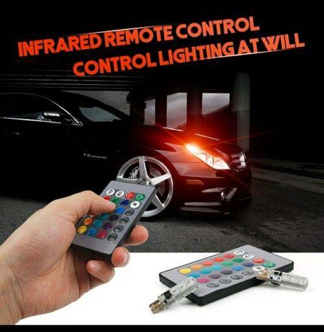 2 Peças Lâmpada Led Com Controle Remoto W5W 501 Para Carro W5W 501 À Prova D 'Água / - Foto 4