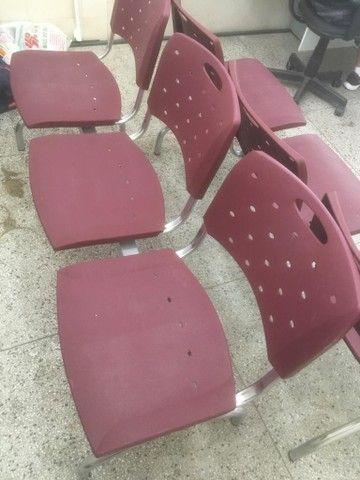Cadeiras 3 lugares longarina  - Foto 3