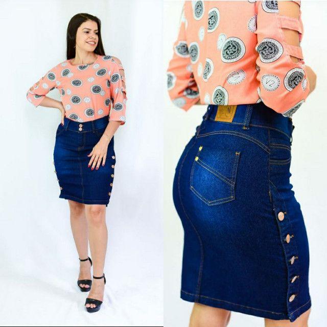 Saias jeans evangélica  direto da fábrica  barato - Foto 6