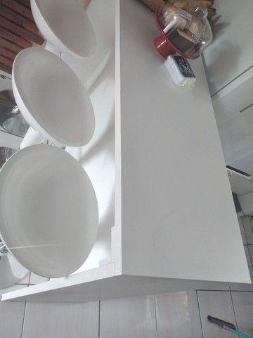 Mesa balcão de 1.50cm e 3 cadeiras bar - Foto 4