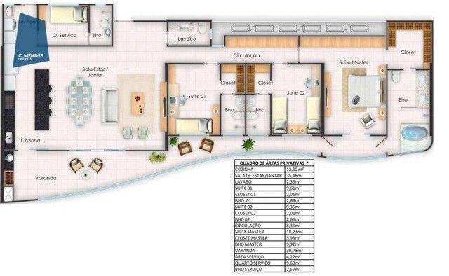 Apartamento à venda, 164 m² por R$ 1.313.737,46 - Guararapes - Fortaleza/CE - Foto 2
