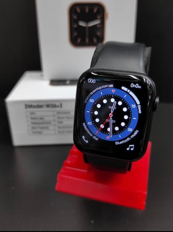 Relógio Inteligente Smartwatch Iwo w26 Plus Original Preto Rosa Top