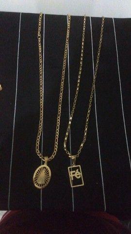 Cordões banhados a ouro 18k - Foto 2