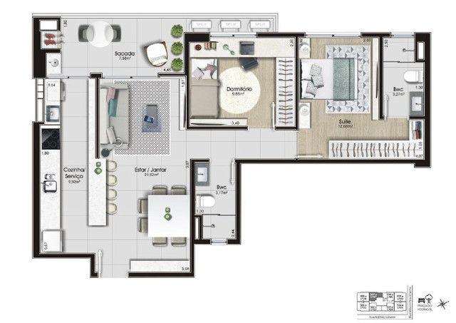 Apartamento 2 dormitórios c/ suíte | Entrega em 02/2023 | Kobrasol em São José/SC - Foto 12