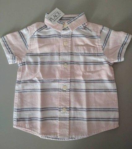 Blusa de botão importada para bebê (Nova, com tag)