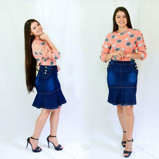 Saias jeans evangélica  direto da fábrica  barato - Foto 4