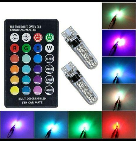 2 Peças Lâmpada Led Com Controle Remoto W5W 501 Para Carro W5W 501 À Prova D 'Água / - Foto 2