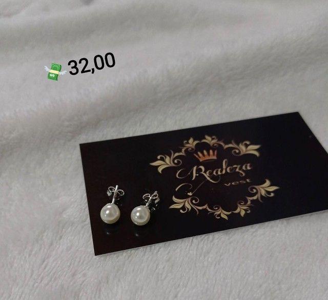 Brincos Pequenos Prata 925 Legítima  - Foto 3