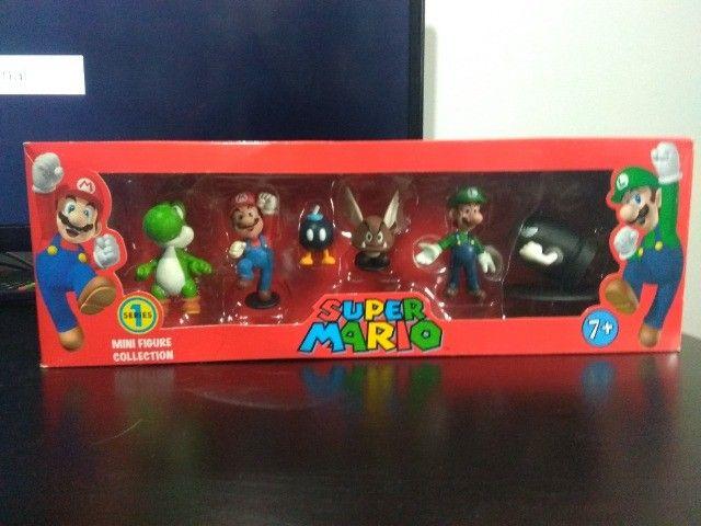 Coleção Bonecos Super Mario - 6 Peças