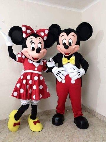 Fantasia Mascote Mickey e Minnie Personagens Vivos - Foto 2