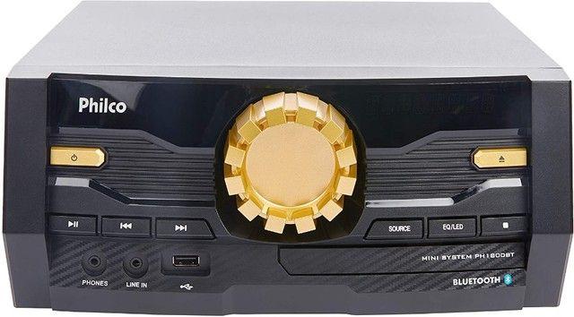 Mini System Philco PH1800BT Bluetooth - Bivolt semi-novo aceito cartão - Foto 3