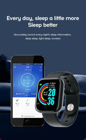 Smartwatch y68 D20 Relogio inteligente  - Foto 2