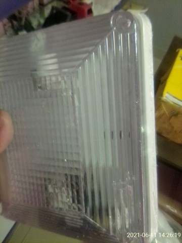 Lanterna teto plafonier quadrada cristal - Foto 3