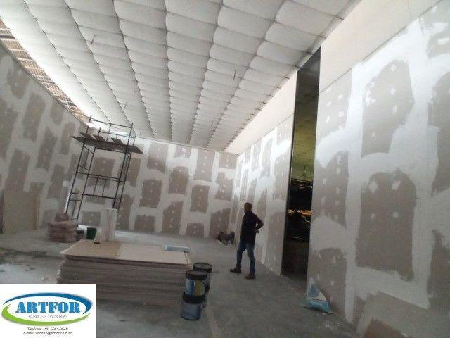 Artfor - Divisórias Eucatex, Dry Wall, Paredes Gesso, Divisórias Acústicas. - Foto 4