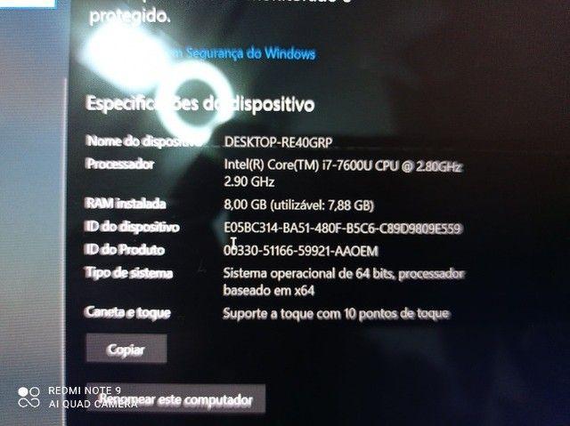 Dell I7 7a geração 8giga touchscreen zerado - Foto 4