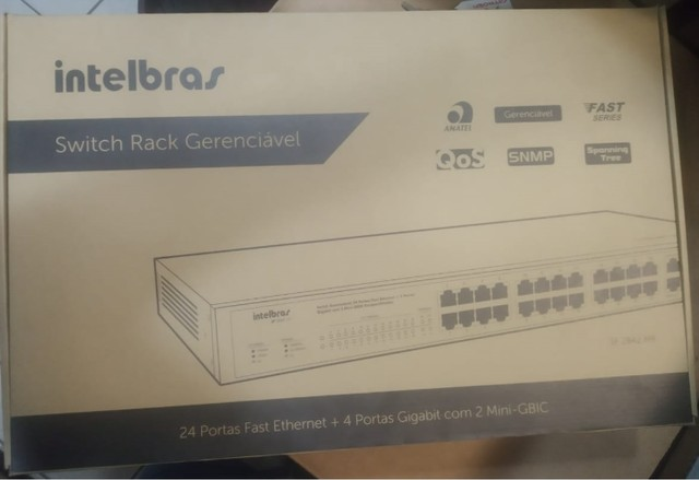 Switch Intelbras Gerenc 24p Fast+4p Gigabit+2pgbic-sf2842mr