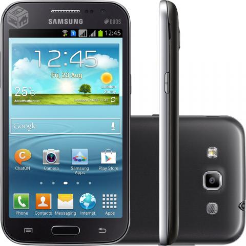 Smartphone Galaxy Win Duos Cinza e branco - R$599