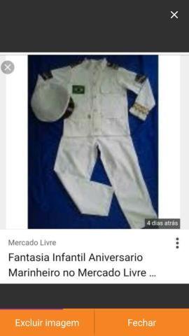VENDE-SE um conjunto de roupas de marinheiro (FANTASIA) para aniversário