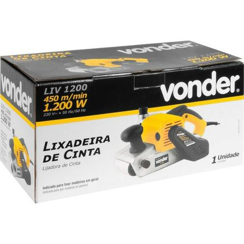 Lixadeira de cinta LIV 1200 220 V - Vonder - Foto 3