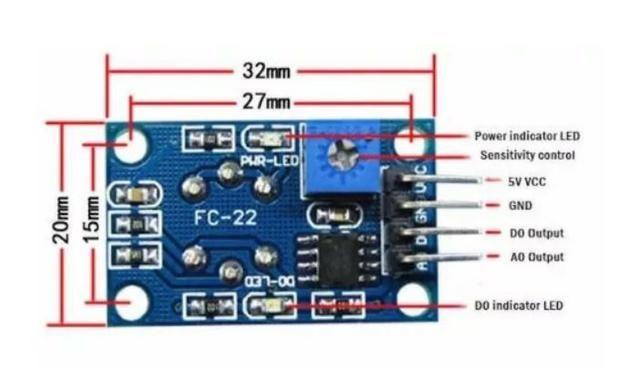 COD-AM232 Sensor De Gás Mq-135 Mq135 Amônia Ó. Nítrico Álcool Arduino Automação Robot - Foto 2