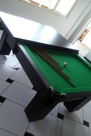 Mesa de Sinuca e Bilhar Cor Preta Tecido Verde Mod. LCEH3520 - Foto 2