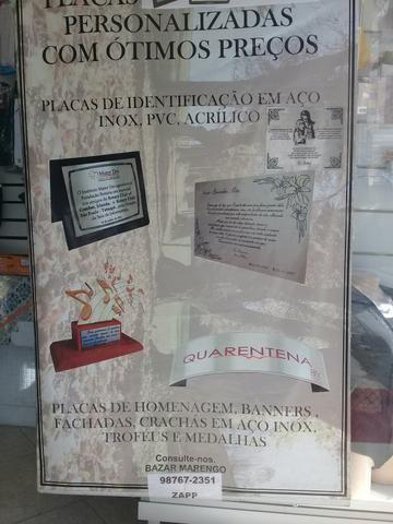Encadernação - plastificação - carimbos - foto 3x4- placas de aço para homenagem
