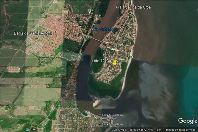 Lote na Barra de Santo Antônio com 360m² (Ilha da Crôa) - Foto 4
