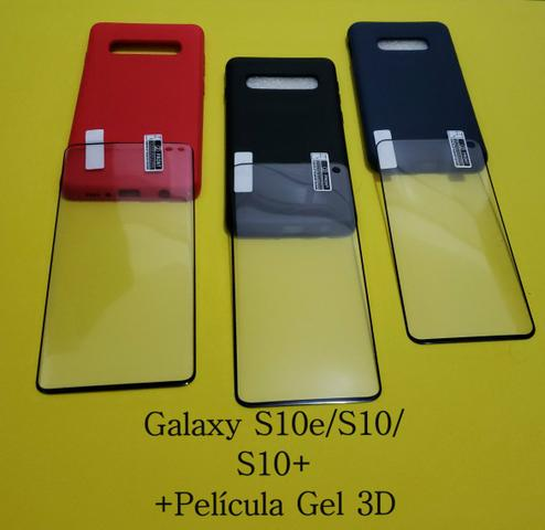 Case e Pelicula Gel 3D Galaxy S8/S9/S10/Note 9