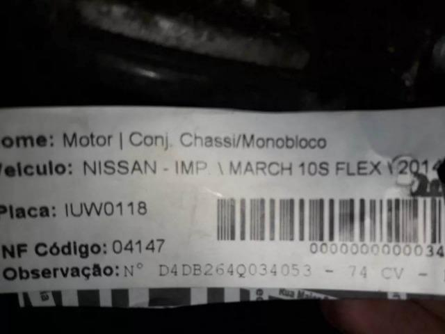 Motor Nissan March 1.0 8v 74cv Flex 2014 - Foto 3