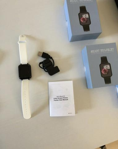 Promoção Smartwatch telefone Inteligente da Frequência Cardíaca Monitor de Pressão Arteria - Foto 4