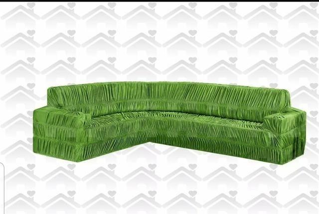 Capa de sofá de canto 6 lugares