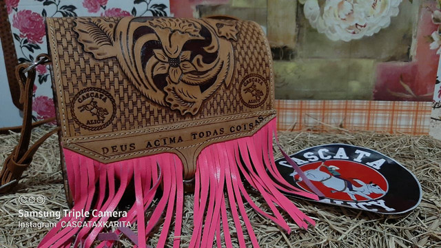 bolsa de couro feminina  - Foto 6