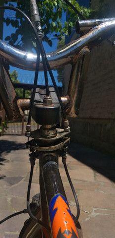 Bicicleta Pro X Cromada aro 20 usada - Foto 6