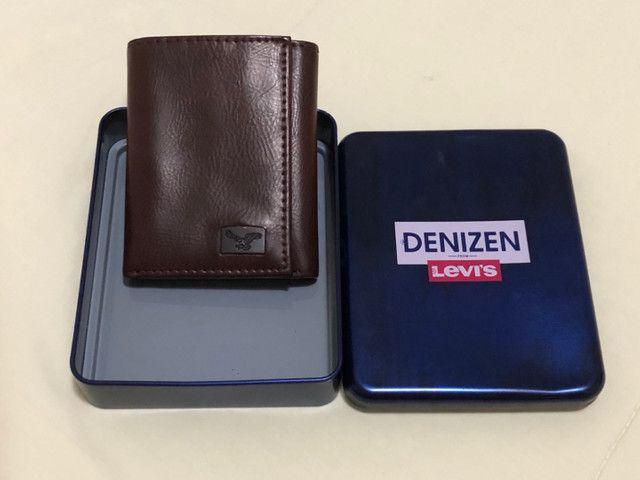(Blackfriday 10% off) Carteira de couro Levis Denizen, na caixa (PRODUTO NOVO!!)