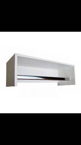 Araras para lojas com suporte de alumínio MDF - Cabideiro - Foto 3