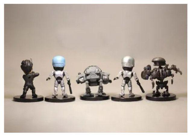 5 Miniatura Bonecos Robocop Ed-209 Murphy Colecionáveis - Foto 5