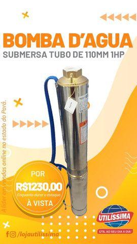 Bomba submersa 1 HP , tubo de 110 mm, joga ate 89 metros de altura modelo claw - Foto 5