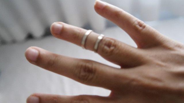 Anel meio dedo inox - Foto 3
