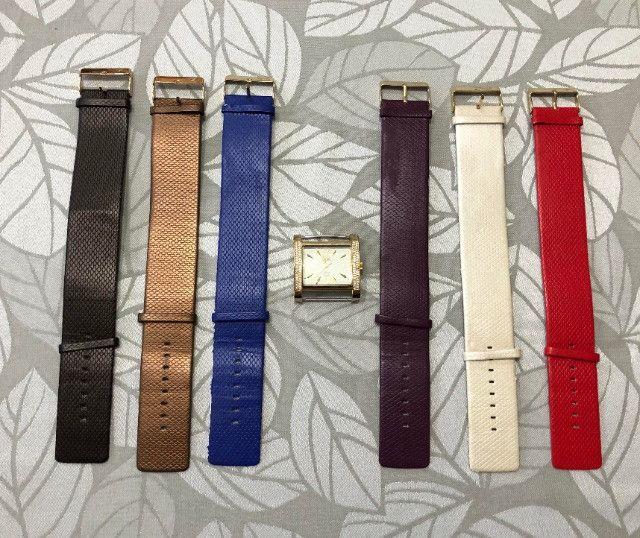 Relógio feminino Dumont All Collors dourado (produto em perfeito estado) - Foto 3