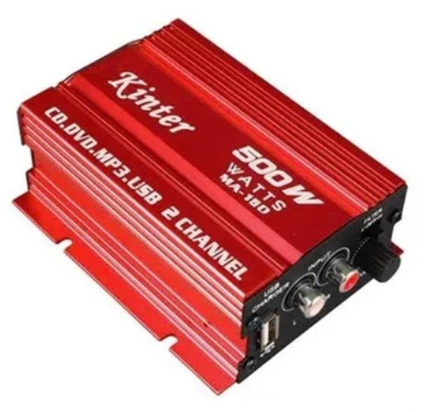 Mini Amplificador Modulo Kinter Ma-150 500w 2 Canais - Foto 2