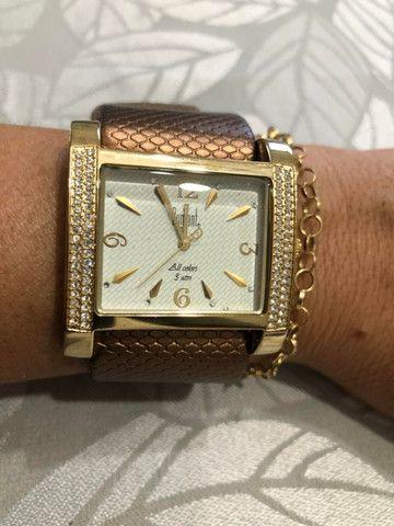 Relógio feminino Dumont All Collors dourado (produto em perfeito estado)