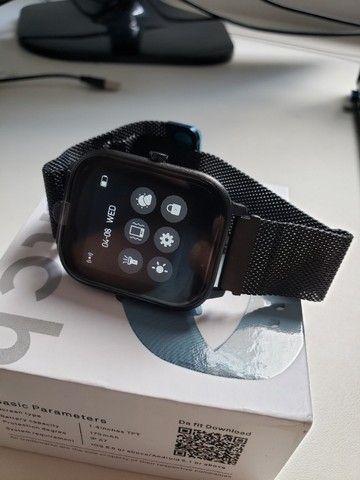 Smartwatch Colmi P8 Pulseira de Metal Preto Notificações - Foto 3