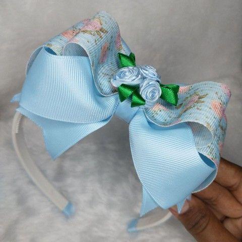 Tiara de Cabelo Laço Floral Boutique Embutido  - Foto 3