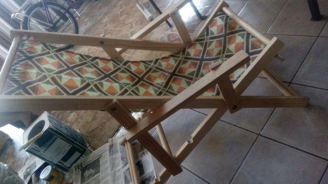 Cadeira espreguisadeira de pano - Foto 2