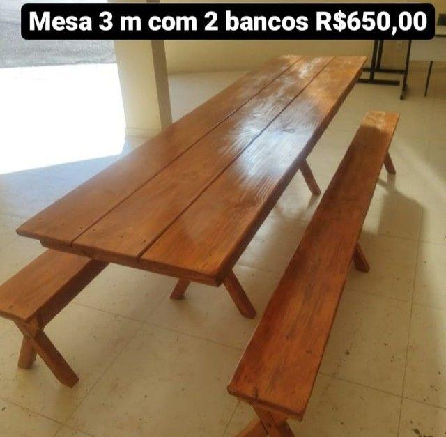 Mesas com bancos e cadeiras - Foto 6