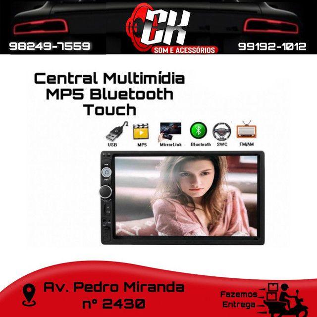 Central Multimídia Bluetooth Universal rádio Fm espelhamento android full touch