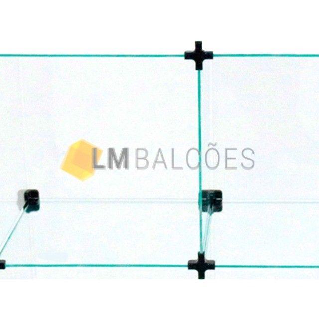 Balcão Atendimento Em Vidro Temperado Em L 1,50 X 1,00 X 0,30 - Foto 2